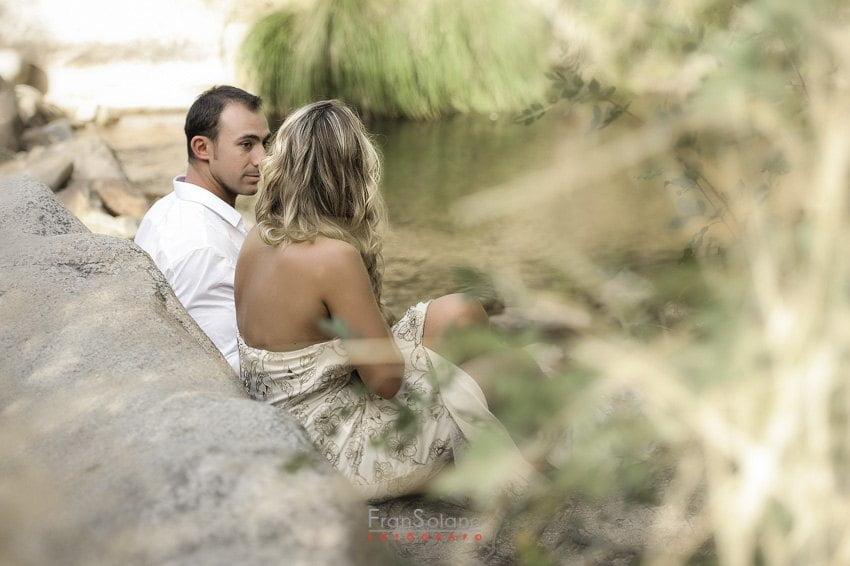 postboda trash the dress en el río Manzanares