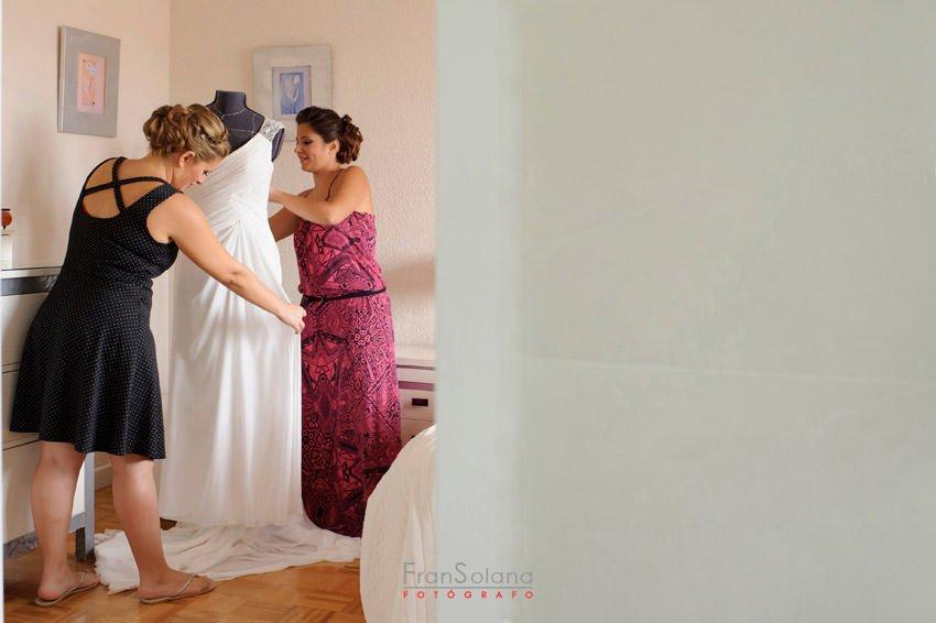 vestido de novia rosa clara