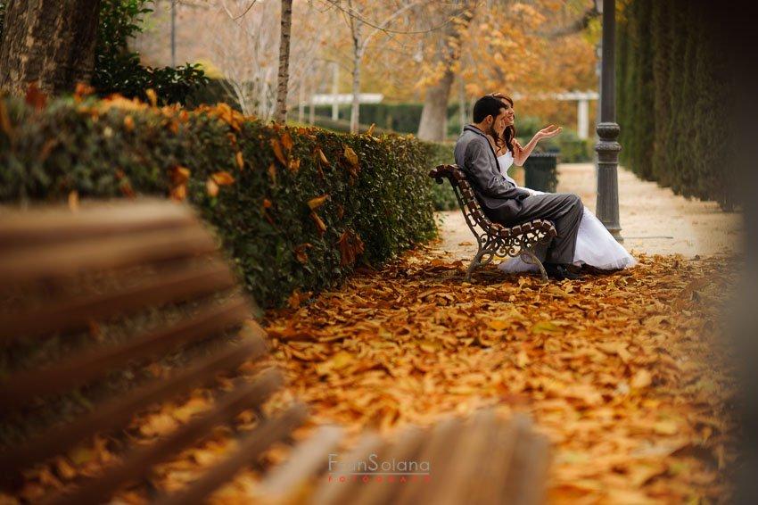 Postboda campestre en Parque del Retiro