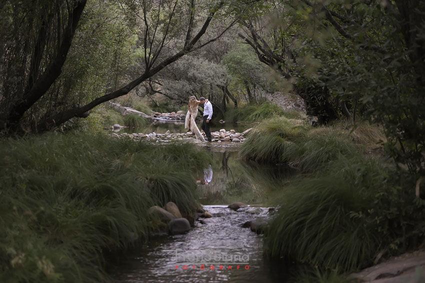 Reportaje fotográfico preboda o postboda en el río
