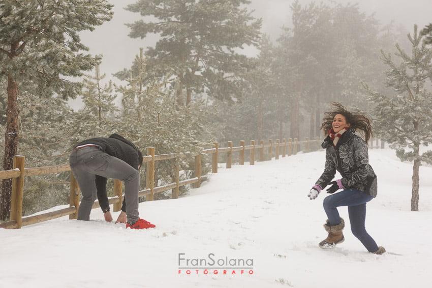 Reportaje fotográfico preboda o postboda en la nieve