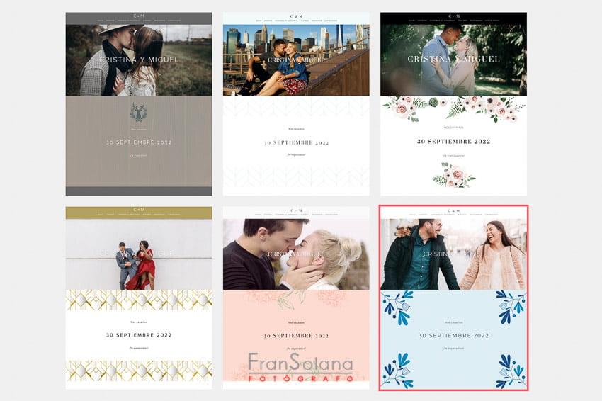 Páginas web para bodas