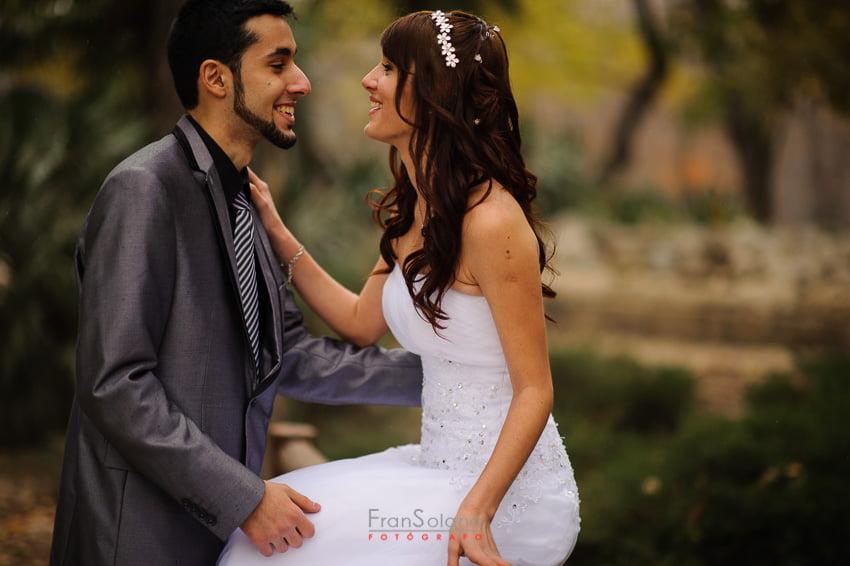 Reportaje de bodas en el Parque del Retiro de Madrid
